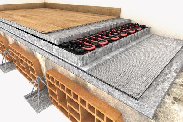 tappetino acustico per sistemi radianti